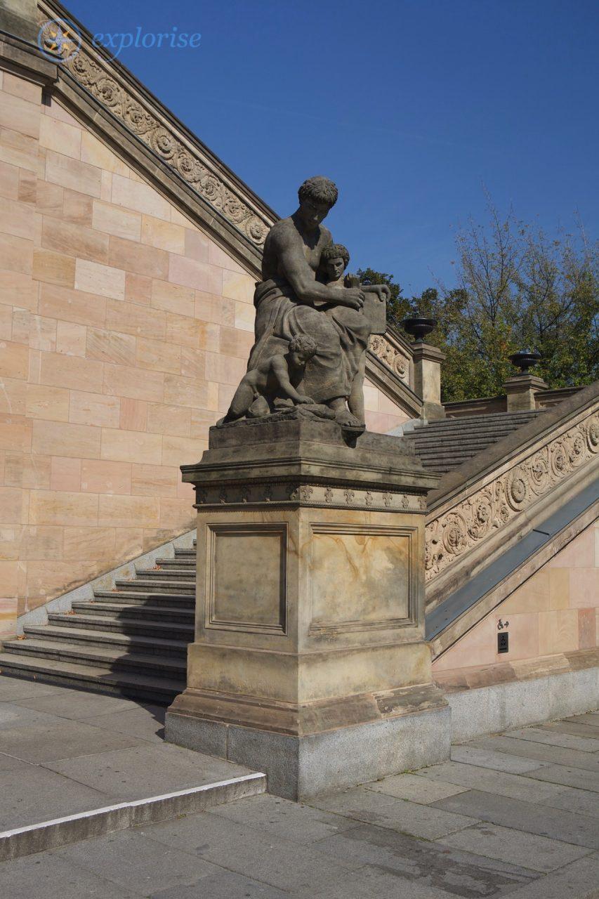 Die Freitreppe der Alten Nationalgalerie in Berlin © Alexander & Natalia Grebennikov